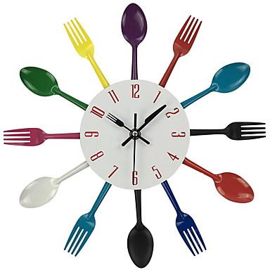 Moderne / Nutidig / Avslappet / Kontor / Bedrift / Andre Mat&Drikke / Andre / Familie / Skole/Studentereksamen Wall Clock,Rund / Nyhet