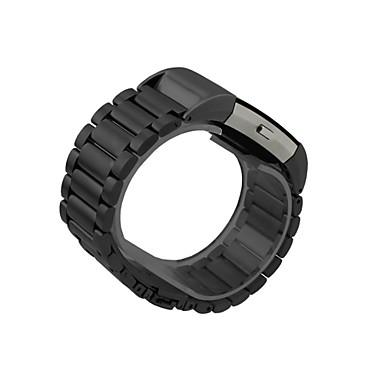 Pulseiras de Relógio para Fitbit Charge 2 Fitbit Fecho Clássico Aço Inoxidável Silicone Tira de Pulso