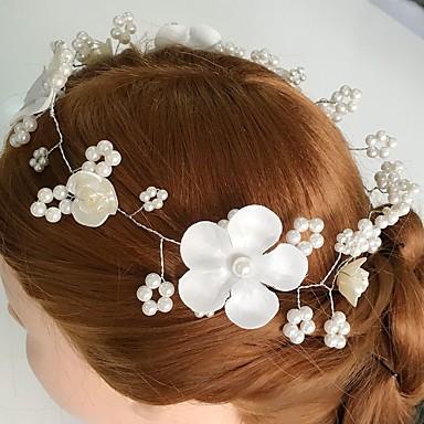 Dames Acryl Stof Legering Helm-Bruiloft Speciale gelegenheden  Causaal Bloemen 1 Stuk