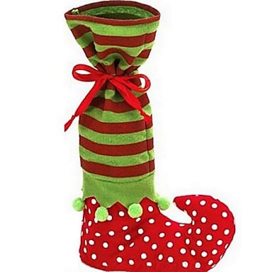 1pc Weihnachten Elf-Boot-Socke Bonbontüte Weihnachtsmann Süßigkeiten Geschenktüte Weihnachten Lieferungen