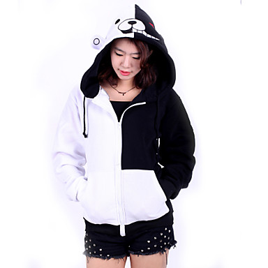 Inspired by Dangan Ronpa Monokuma Video Game Cosplay Costumes Cosplay Hoodies Patchwork Long Sleeve Coat Costumes