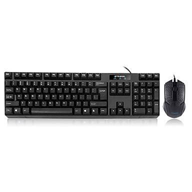 Con Cable Combo de teclado de mouse Puerto USB oficina teclado Oficina de ratón 3 pcs
