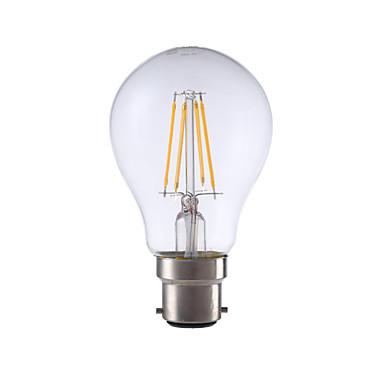5W B22 LED-gloeilampen A60 (A19) 4 leds COB Decoratief Warm wit 400lm 2700