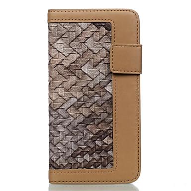 Capinha Para Apple iPhone 7 / iPhone 7 Plus / iPhone 6 Carteira / Porta-Cartão Capa Proteção Completa Estampa Geométrica Rígida PU Leather para iPhone 7 Plus / iPhone 7 / iPhone 6s Plus