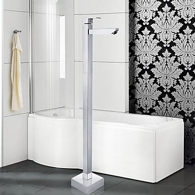 Nykyaikainen Art Deco/Retro Moderni Amme ja suihku Laajallle ulottuva Seisova Keraaminen venttiili Yksi kahva yksi reikä Kromi, Ammehana