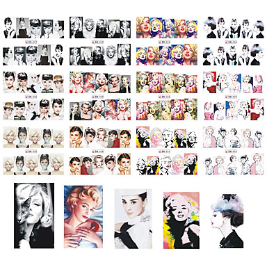 12 designs ,12 different images Nail Art tarra Veden siirto Decals meikki Kosmeettiset Nail Art Design