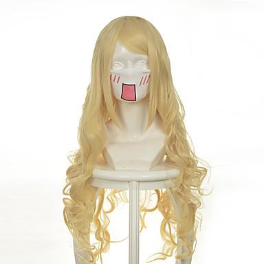 人工毛ウィッグ ウェーブ 合成 かつら 女性用 ロング / 非常に長いです コスプレ用ウィッグ キャップレス