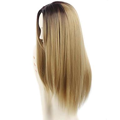 Syntetiske parykker Rett Bølget tetthet Dame Naturlig parykk Lang Syntetisk hår