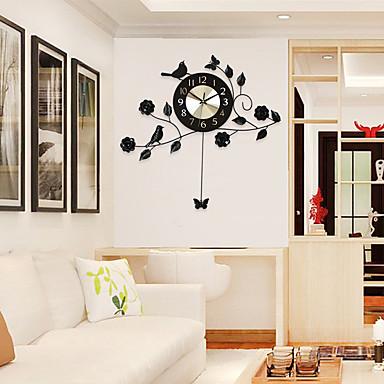 Modern/Hedendaags Huizen Wandklok,Anderen Aluminium / Metaal 60*58cm Voor Binnen Klok