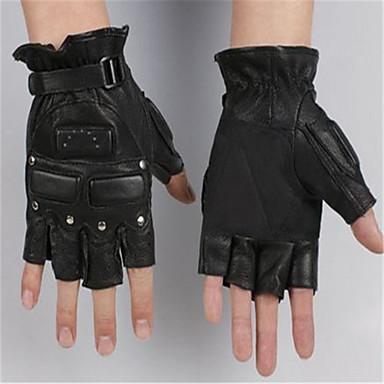 Half Finger Gloves Outdoor Rivet Riding Motorcycle Gloves