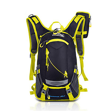 15 L バックパッキング用バックパック サイクリングバックパック バックパック 登山 レジャースポーツ サイクリング/バイク キャンピング&ハイキング 旅行 防水 高通気性 耐衝撃性の ナイロン