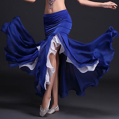 ベリーダンス チュチュスカート 女性用 性能 ポリエステル プロミックス ラッフル ナチュラルウエスト スカート