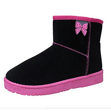 Dame-Pels-Flat hæl-Komfort-Støvler-Friluft Fritid-Blå Rosa Lilla Rød