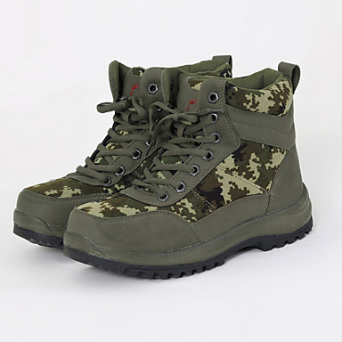 メンズ 靴 レザー 秋 冬 ブーツ ハイキング フラットヒール 用途 Brown アーミーグリーン ブルー