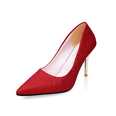 Dame-Glitter PU-Lav hæl-Komfort-Høye hæler-Bryllup Friluft Kontor og arbeid Fest/aften Formell Fritid-
