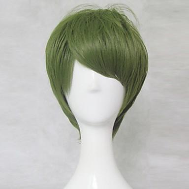 女性 人工毛ウィッグ キャップレス ストレート グリーン コスプレ用ウィッグ コスチュームウィッグ