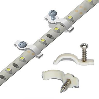 100ロットストリップライトの取り付けbracketone側fixingscrewsは防水ストリップ幅10ミリメートルのために(理想を含ま