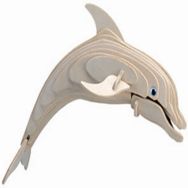voordelige 3D-puzzels-Houten puzzels Dolfijn professioneel niveau Hout 1 pcs Jongens Meisjes Speeltjes Geschenk
