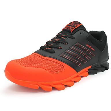 メンズ 靴 チュール コンフォートシューズ アスレチック・シューズ ランニング 用途 スポーツ オレンジ グリーン ネービーブルー
