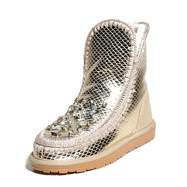 Naiset Kengät Muu eläimennahka Comfort Bootsit Käyttötarkoitus Kausaliteetti Hopea Pinkki