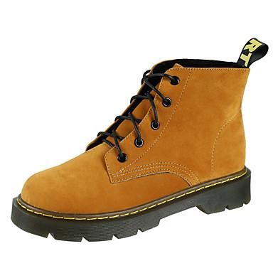 Dame-PU-Flat hæl-Komfort-Støvler-Fritid-Svart Mørkebrun Grønn