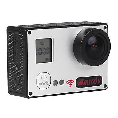 amkov7000S Action Kamera / Sportskamera 20MP 4608 x 3456 Wifi Justerbar Vanntett Vidvinkel Trådløs 30fps Nei ± 2EV 2 CMOS 32 GB H.264