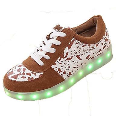 ユニセックス-アウトドア カジュアル アスレチック-PUレザー-フラットヒール-コンフォートシューズ 幼児用靴 アンクルストラップ 靴を点灯-スニーカー-ブラック ブラウン