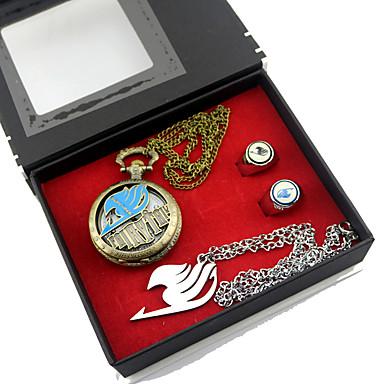 時計/腕時計 多くのアクセサリー に触発さ Fairy Tail ルーシィ・ハートフィリア アニメ系 コスプレアクセサリー 時計/腕時計 ネックレス 指輪 合金
