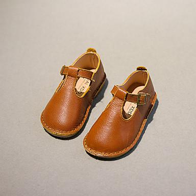赤ちゃん 女の子 靴 レザー 秋 フラット ベックル のために カジュアル ブラック イエロー レッド