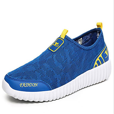 21ba2c9762 Unisex Sneakers Leisure Sports Running Breathable Breathable Mesh Light  Grey Red Blue
