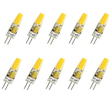 10pcs 1.5 W 200-250 lm G4 LED-kornpærer T COB leds COB Dekorativ Varm hvit Kjølig hvit AC 12V