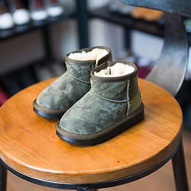 男の子 赤ちゃん 靴 レザー 冬 コンフォートシューズ スノーブーツ ブーツ 用途 カジュアル ブラック アーミーグリーン