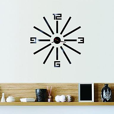 Moderne / Nutidig / Kontor / Bedrift Huse / Familie / Skole/Studentereksamen / Venner Wall Clock,Nyhet Glass / Plastikk 45CM/17.7inch