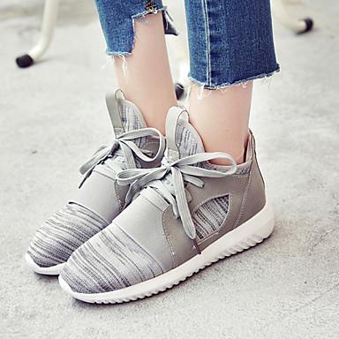 Dame-TekstilKomfort-Sneakers-Fritid-Rosa / Grå