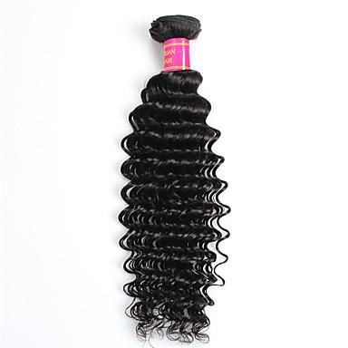 1 csomagot Brazil haj Göndör / Hullámos / Mély hullám Szűz haj Az emberi haj sző Emberi haj sző Human Hair Extensions
