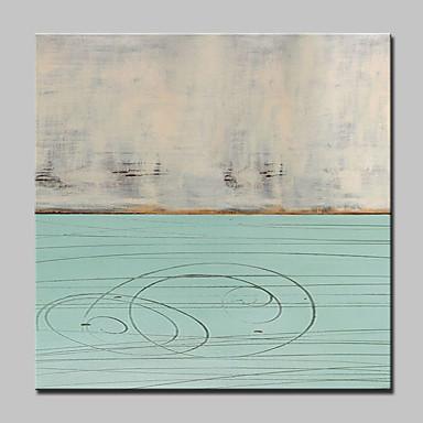 Pintura al óleo pintada a colgar Pintada a mano - Paisaje Modern Incluir marco interior / Lona ajustada