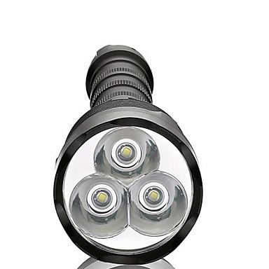 LED懐中電灯 LED 3800 lm 5 モード LED 防水 スーパーライト ハイパワー 調光可能 のために キャンプ/ハイキング/ケイビング 日常使用 サイクリング 狩猟 釣り 旅行 多機能 屋外 電池は含まれていません