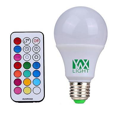 YWXLIGHT® 500lm E26 / E27 LED-globepærer 12 LED perler SMD Mulighet for demping Dekorativ Fjernstyrt Naturlig hvit RGB 85-265V