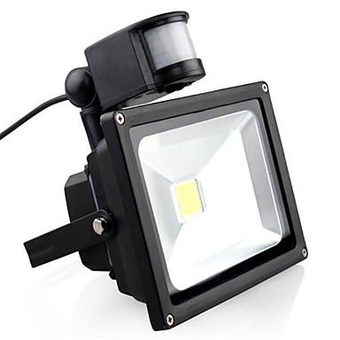 1pc 20 W LED-lyskastere Infrarød sensor / Motion Detection Monitor Varm hvit / Kjølig hvit 85-265 V Utendørsbelysning / Courtyard / Have 1 LED perler