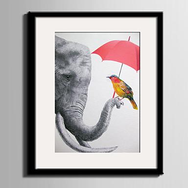 Lienzo enmarcado Conjunto enmarcado Animales Arte de la pared, PVC Material con Marco Decoración hogareña marco del art Sala de estar