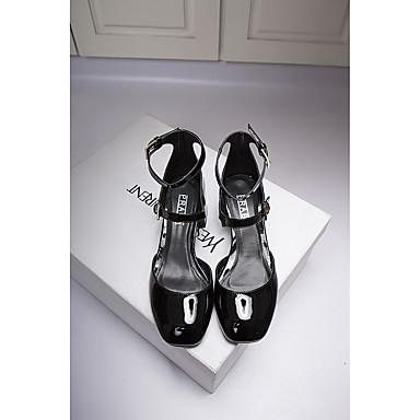 女性用 靴 レザー コンフォートシューズ ヒール のために 結婚式 カジュアル ゴールド ブラック シルバー レッド