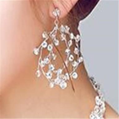 Dame Dråpeøreringer Krystall Rhinstein Krystall Strass Smykker Gjennomsiktig Bryllup Fest Kostyme smykker