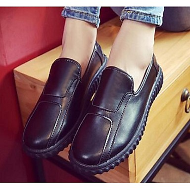 Dame-PUKomfort-一脚蹬鞋、懒人鞋-Fritid-Hvit Svart Rød