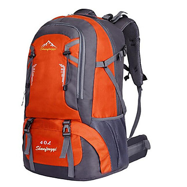 40 L حقائب ظهر - مقاوم للماء, متنفس, مقاومة الهزة في الهواء الطلق التخييم والتنزه, التسلق, رياضة وترفيه نايلون أخضر, برتقالي, أحمر
