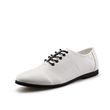 Miehet kengät Tekonahka Kevät Kesä Syksy Talvi Comfort Oxford-kengät Käyttötarkoitus Kausaliteetti Juhlat Valkoinen Musta Ruskea