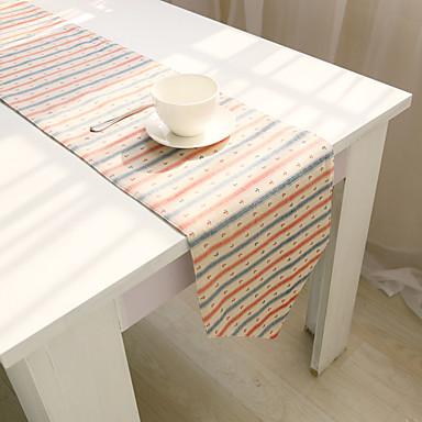 長方形 フラワー パターン柄 テーブルランナー , コットンブレンド 材料 ホテルのダイニングテーブル 表Dceoration