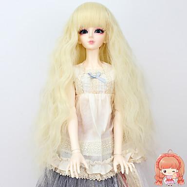Naisten Synteettiset peruukit perverssi Blonde Doll Wig puku Peruukit