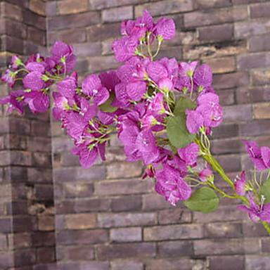 1 ブランチ プラスチック その他 植物 プラム色 その他 テーブルトップフラワー 人工花