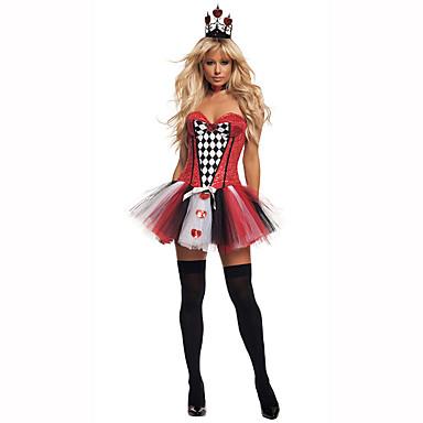 Dronning Eventyr Kvinnelig Halloween Jul Karneval Barnas Dag Nytt År Oktoberfest Festival/høytid Halloween-kostymer Ensfarget