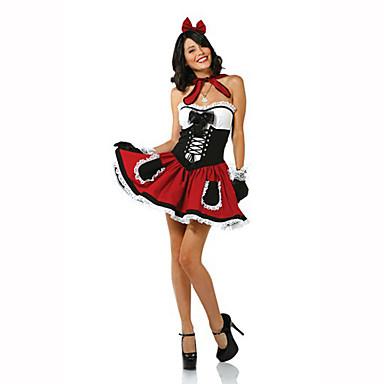 Satuteema Siivujan asut Naiset Halloween Joulu Karnevaali Lasten päivä Uusi vuosi Oktoberfest Festivaali/loma Halloween-asut Painettu